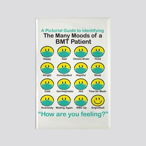 Many Moods Rectangle Magnet