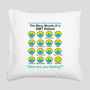 Many Moods Square Canvas Pillow