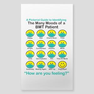 Many Moods Sticker (Rectangle)