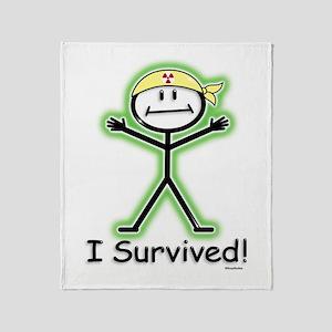 Radiation Survivor Throw Blanket