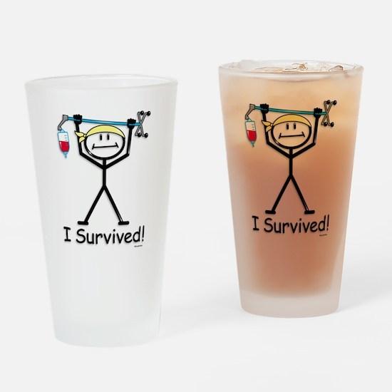 Chemo Survivor Drinking Glass
