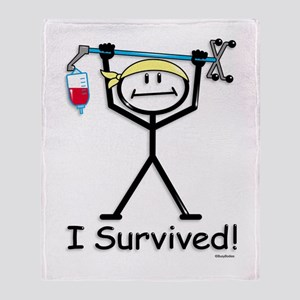 Chemo Survivor Throw Blanket