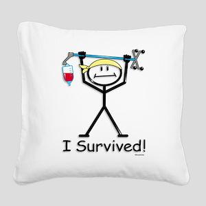 Chemo Survivor Square Canvas Pillow