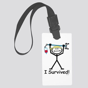 Chemo Survivor Large Luggage Tag