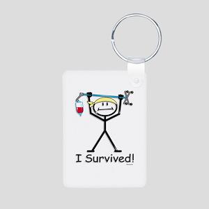 Chemo Survivor Aluminum Photo Keychain