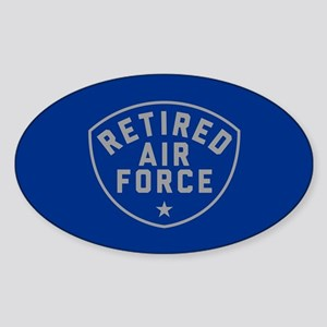 Retired Air Force Sticker (Oval)