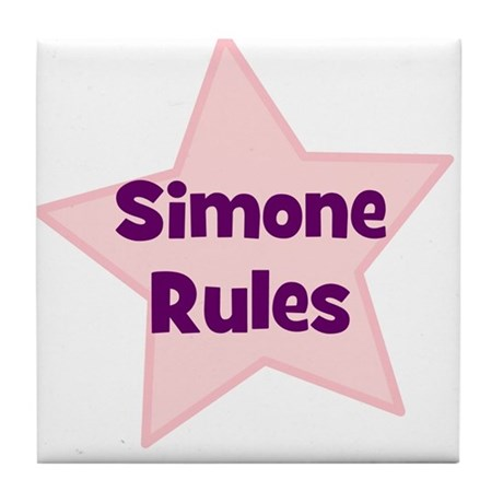Simone Rules Tile Coaster