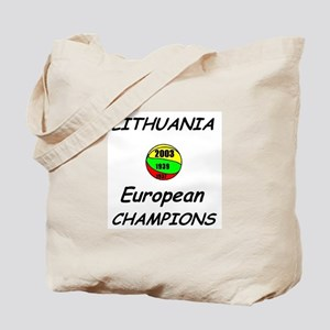 Lithuania Euro Champs Tote Bag