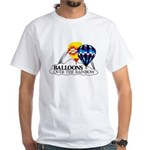 Balloons Over The Rainbow White T-Shirt