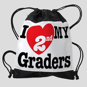 I Love My 2nd Graders Drawstring Bag