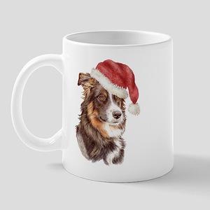Christmas Border Collie Mug