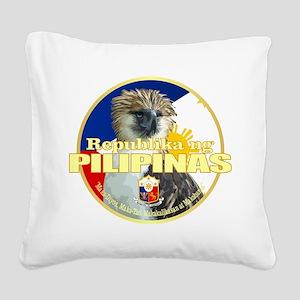 Philippine Eagle Square Canvas Pillow