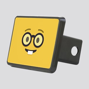 Nerdy Emoji Face Hitch Cover