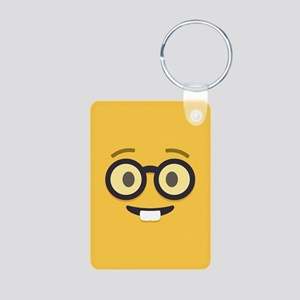 Nerdy Emoji Face Keychains