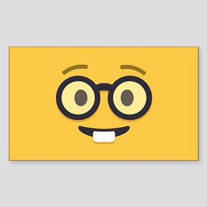 Nerdy Emoji Face Sticker