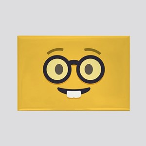 Nerdy Emoji Face Magnets