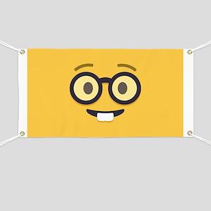 Nerdy Emoji Face Banner
