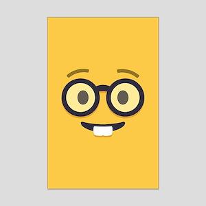 Nerdy Emoji Face Posters