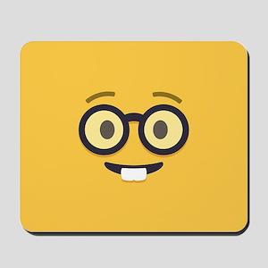 Nerdy Emoji Face Mousepad