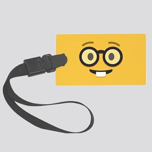 Nerdy Emoji Face Luggage Tag