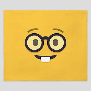 Nerdy Emoji Face King Duvet