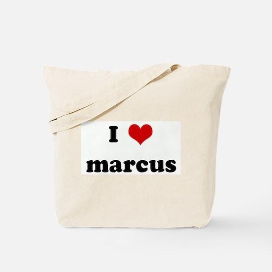 I Love marcus Tote Bag
