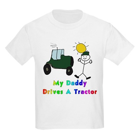 My Daddy Drives A Tractor Kids T-Shirt