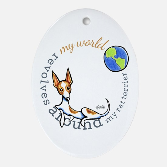 Rat Terrier World Ornament (Oval)