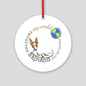 Rat Terrier World Ornament (Round)