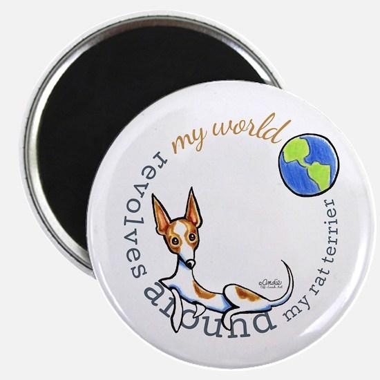 """Rat Terrier World 2.25"""" Magnet (10 pack)"""