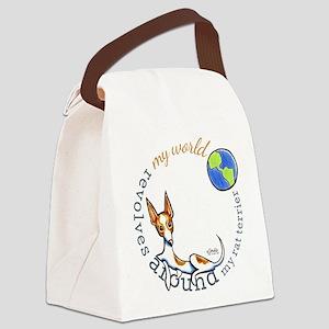 Rat Terrier World Canvas Lunch Bag