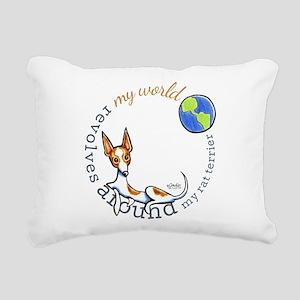 Rat Terrier World Rectangular Canvas Pillow