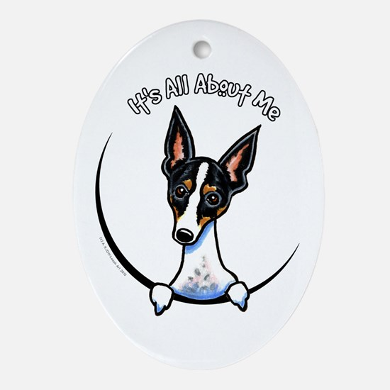 Rat Terrier IAAM Ornament (Oval)