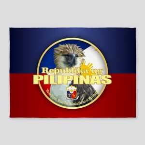 Philippine Eagle 5'x7'Area Rug