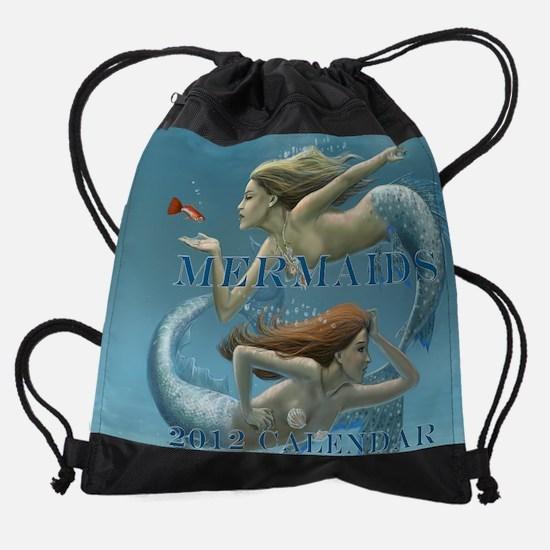covered mermaids cover.jpg Drawstring Bag