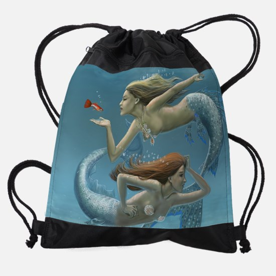 siren sisters.jpg Drawstring Bag