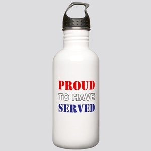 Proud To Have Served Water Bottle