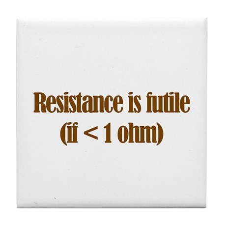 Resistance is Futile Tile Coaster