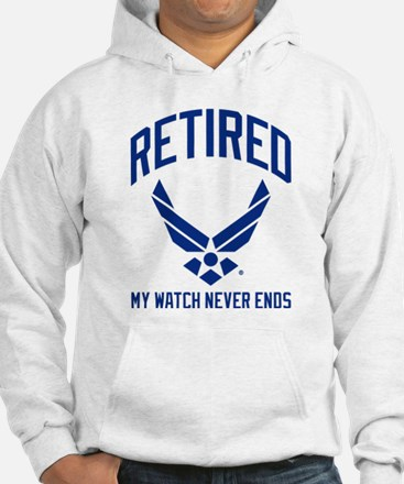 USAF Retired Watch Never Ends Hoodie