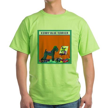 KERRY BLUE TERRIER Green T-Shirt