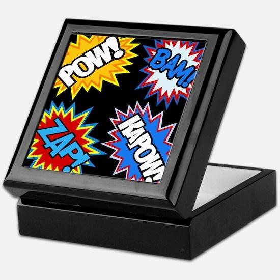 Hero Comic Pow Bam Zap Bursts Keepsake Box