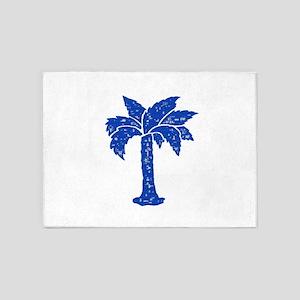 BLUE PALM 5'x7'Area Rug