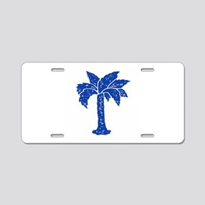 BLUE PALM Aluminum License Plate