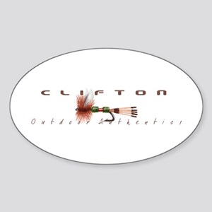 Flyfishing Logo 2 Oval Sticker