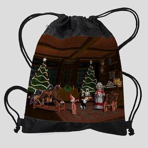 Christmas Wish Drawstring Bag