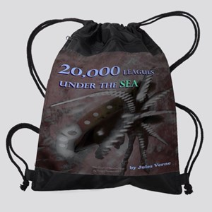 20000 leagues 11.5x9 Drawstring Bag