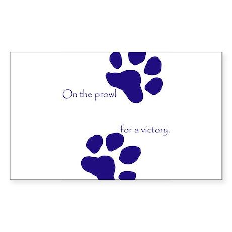 Tiger Paw Blue Rectangle Sticker