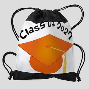 2027 orange hat david Drawstring Bag