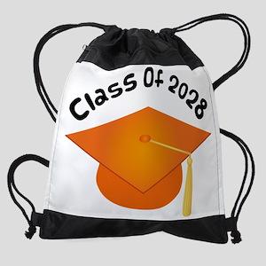 2028 orange hat david Drawstring Bag