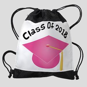 2018 pink hat Drawstring Bag